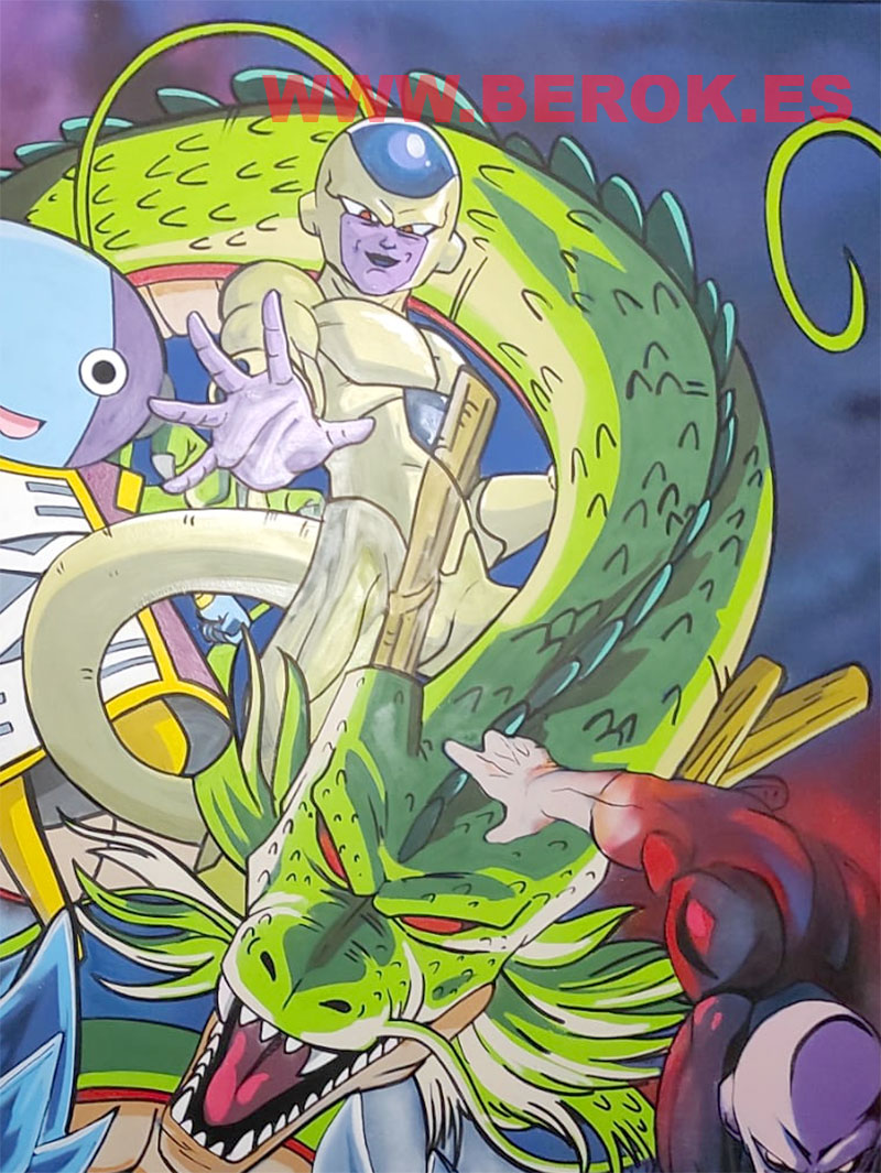 dibujo del dragon Shenlong