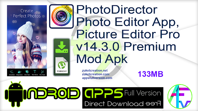 PhotoDirector Photo Editor App, Picture Editor Pro v14.3.0 Premium Mod Apk