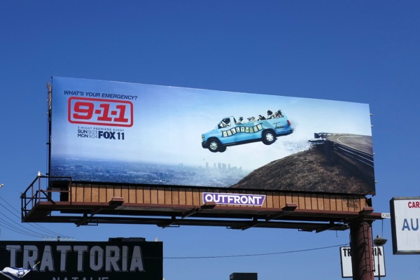 911 season 2 tour bus billboard