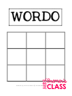 'Mystery Word' Word Wall Game and FREE WORDO Sight Word Activity