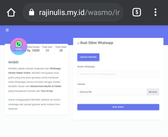Buka Halaman Website WASMO