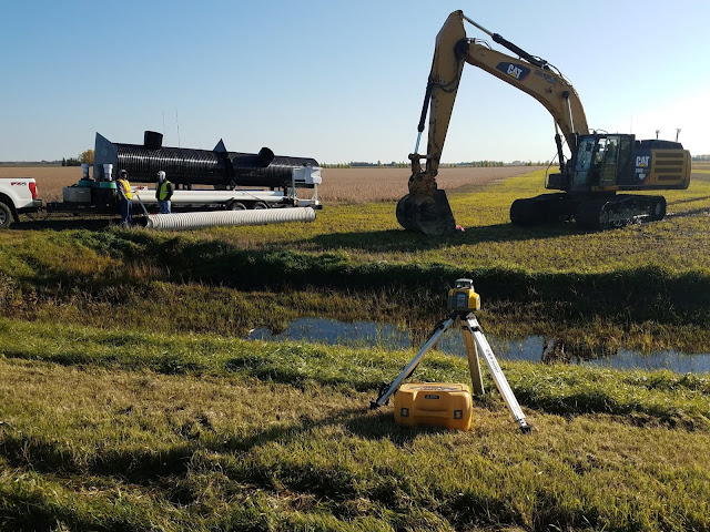 subsurface drainage system installation