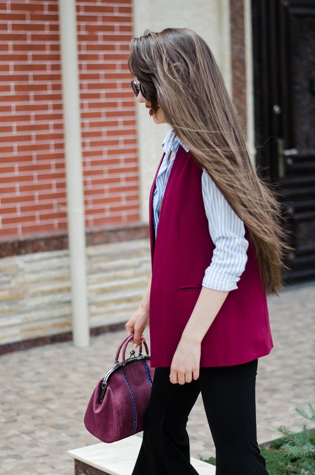 fashion blogger diyorasnotes diyora beta bordo outfit street style 2017 pants lookoftheday