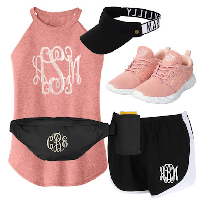 monogram athleisure outfit for spring