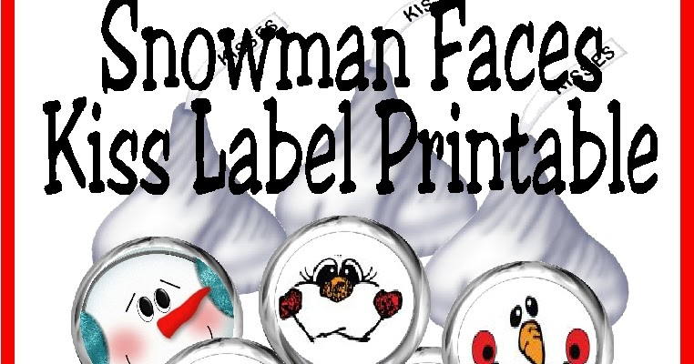 photo about Printable Snowman Faces named Do-it-yourself Occasion Mother: Snowman Faces Kiss Label Absolutely free Printable