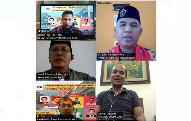 Bahas Kesejahteraan Papua Sebagai Skala Prioritas Pemerintah, Forum Pemuda Aceh Gelar Diskusi Virtual