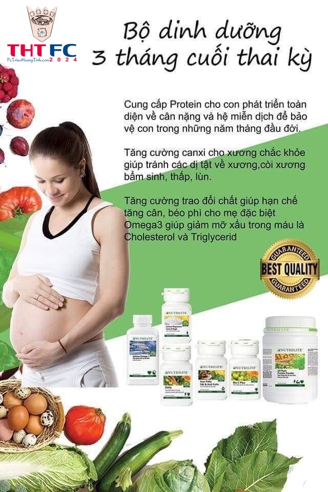 Bộ dinh dưỡng cho 9 tháng thai kỳ hoàn hảo của cả MẸ và BÉ