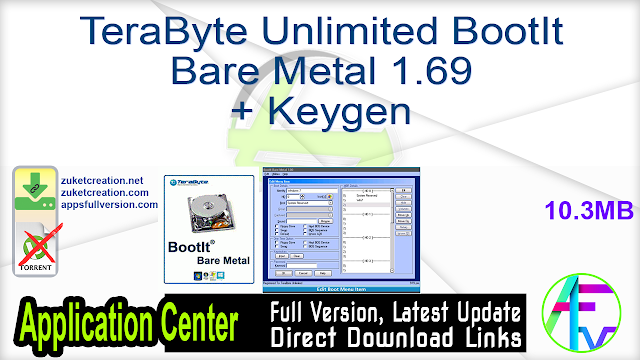 TeraByte Unlimited BootIt Bare Metal 1.69 + Keygen