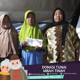 Mbah Tinah : Donasi Tunai