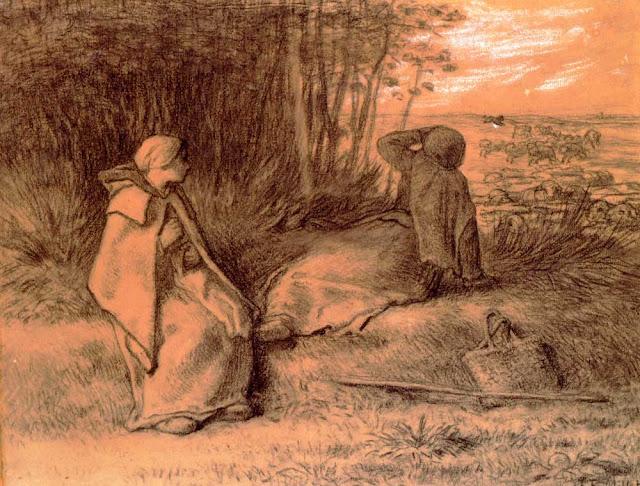 Жан Франсуа Милле - Пастушки в тени
