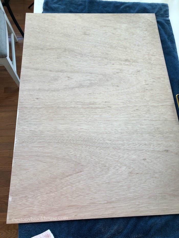 Plain underlayment board