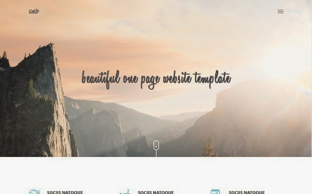 Uno - One Page Free Html5/Css3 Website Template
