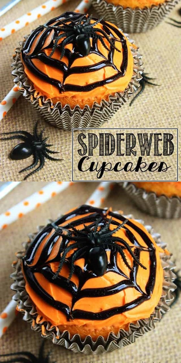 Spiderweb Cupcakes #cupcakerecipes