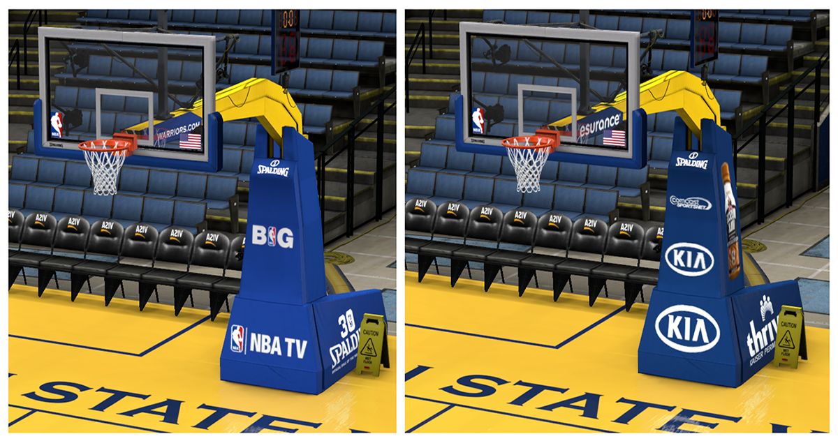 NBA TV Broadcast Backboard & Local Broadcast Backboard