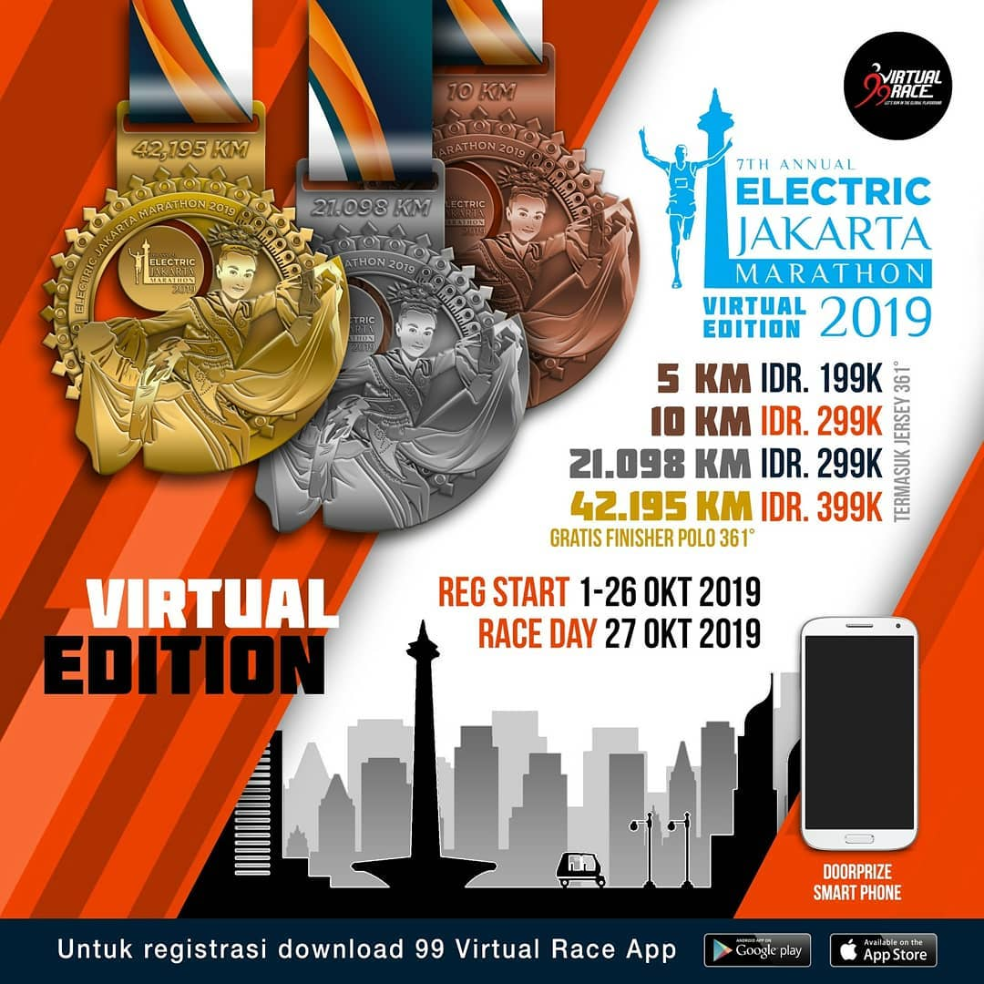 Electric Jakarta Marathon - Virtual Edition • 2019