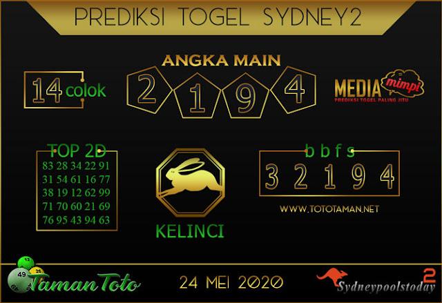 Prediksi Togel SYDNEY 2 TAMAN TOTO 24 MEI 2020