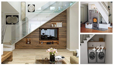 Decoración de Hogar : Ideas para ahorrar espacio debajo de la escalera