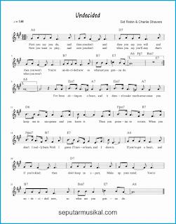 chord undecided lagu jazz standar
