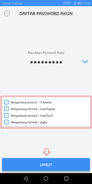 masukkan password
