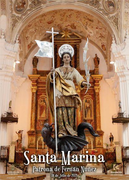 Cartel de Santa Marina, Patrona de Fernán Núñez 2021