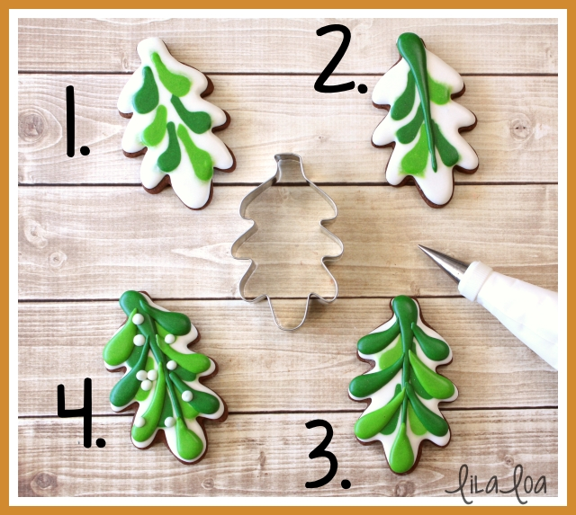 A cookie decorating tutorial - video included - Christmas sugar cookies - mistletoe