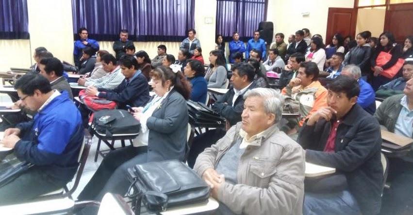 Comenzó Taller para docentes de secundaria en Santiago de Chuco