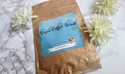 Naturelle cosmetics -Chocolate orange coffee scrub