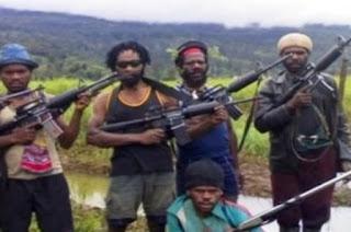 Diduga salah satu Kelompok Kriminal Bersenjata di Papua