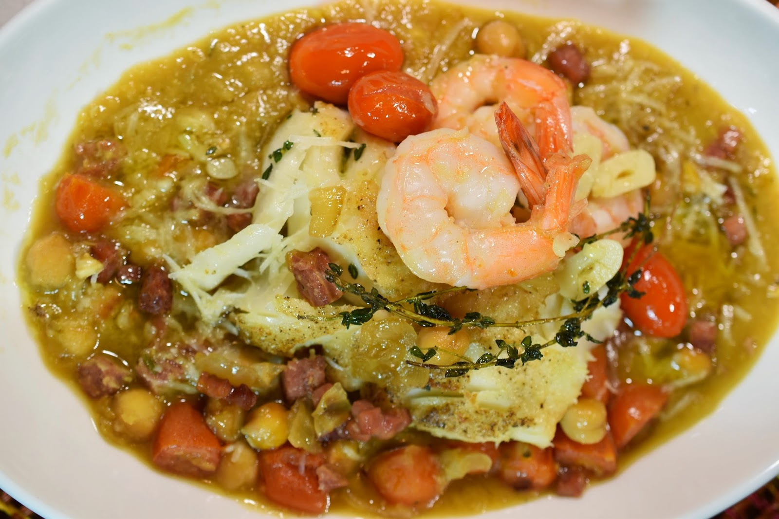 Saffron Chickpea Stew with Pecorino