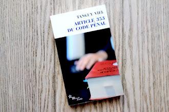 Lundi Librairie : Article 353 du code pénal - Tanguy Viel