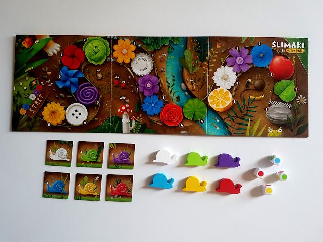 Ślimaki to mięczaki - Nasza Księgarnia - gry planszowe - gry i zabawy dla dzieci - planszówki dl dzieci - Eugeni Castano - Maciej Szymanowicz