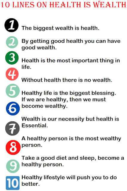Short Few Lines Essay on Health Is Wealth
