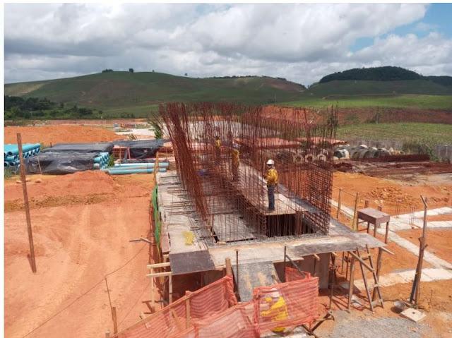 Obras do Sistema de Esgotamento Sanitário em Escada estão avançadas segundo a Compesa