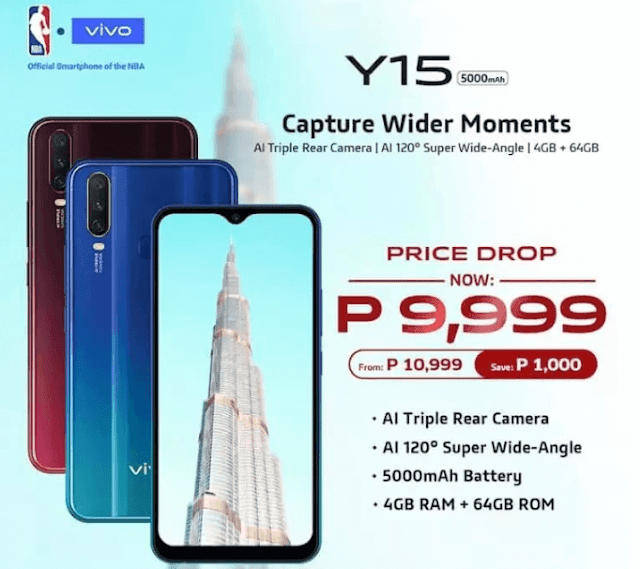 VIVO Y15 gets a price drop, now only Php9,999