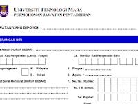 Jawatan Kosong di Universiti Teknologi MARA UiTM - Pensyarah / Kerani / Juruteknik