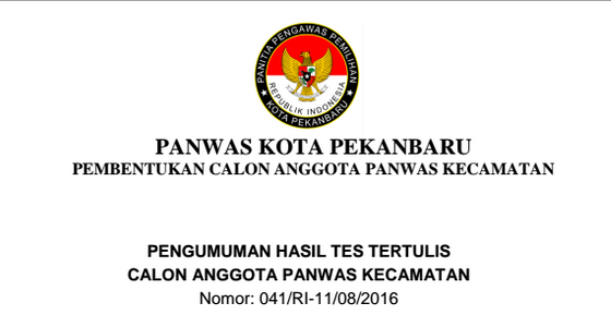 Seleksi Panwascam