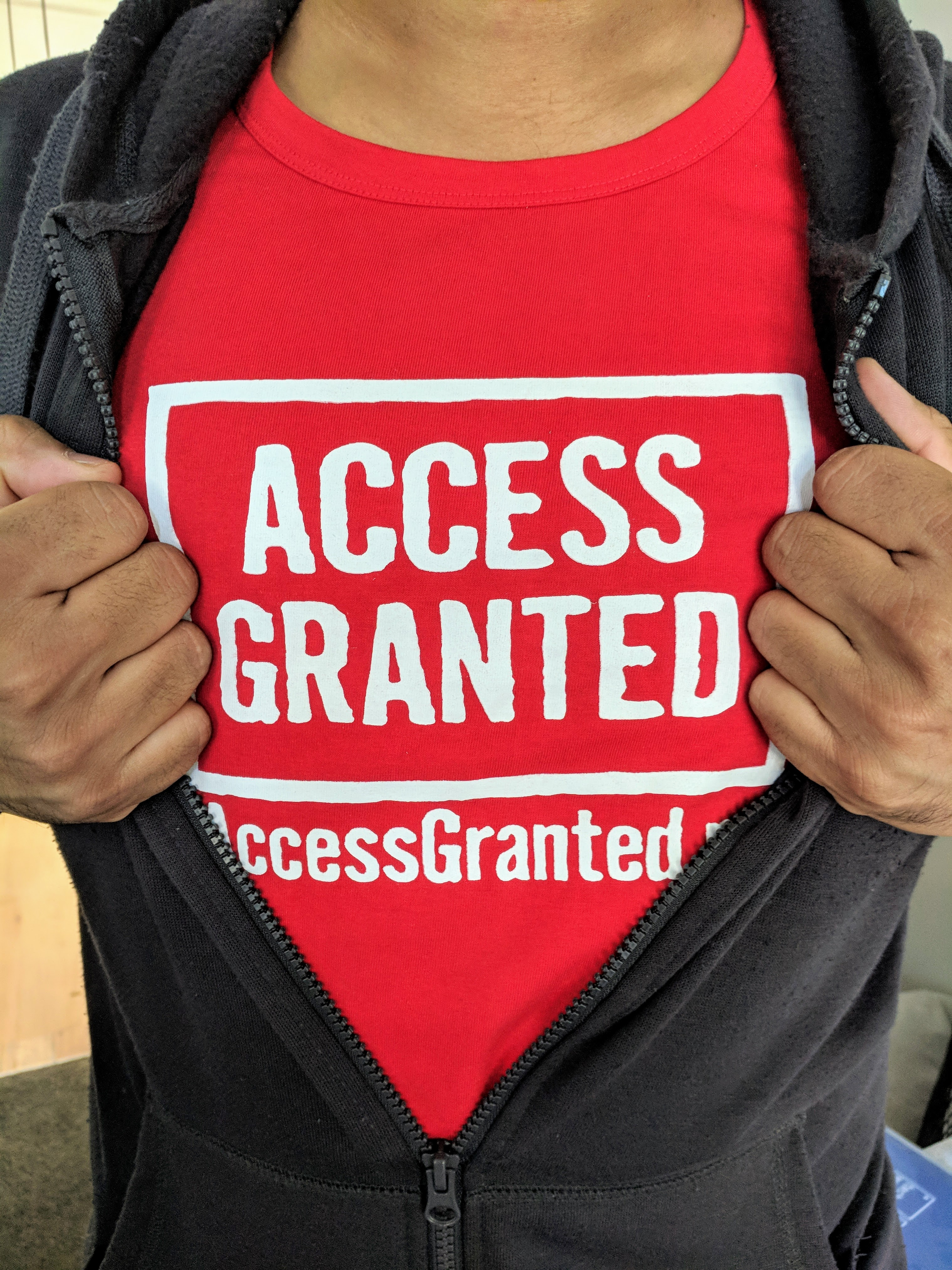 Access Granted NZ host, Raj, suits up