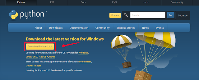 Download and install Python on Windows10 (Directly)
