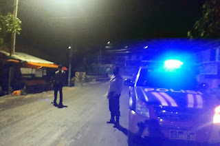 Antisipasi Gangguan Kamtibmas, Personel Polsek Anggeraja Patroli Malam