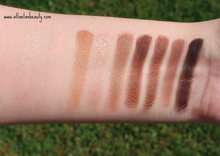 Kokie Cosmetics Bare It All Eyeshadow Palette Swatches