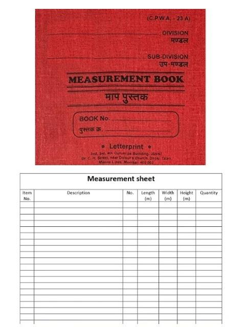 measurement book format