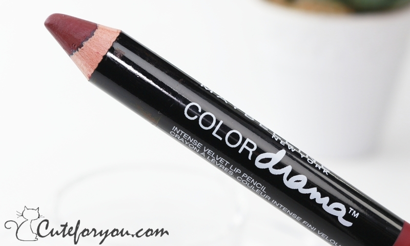 Maybelline Color Drama Pencil Berry Much review swatch reseña karolina luke cute for you beauty blogger argentina