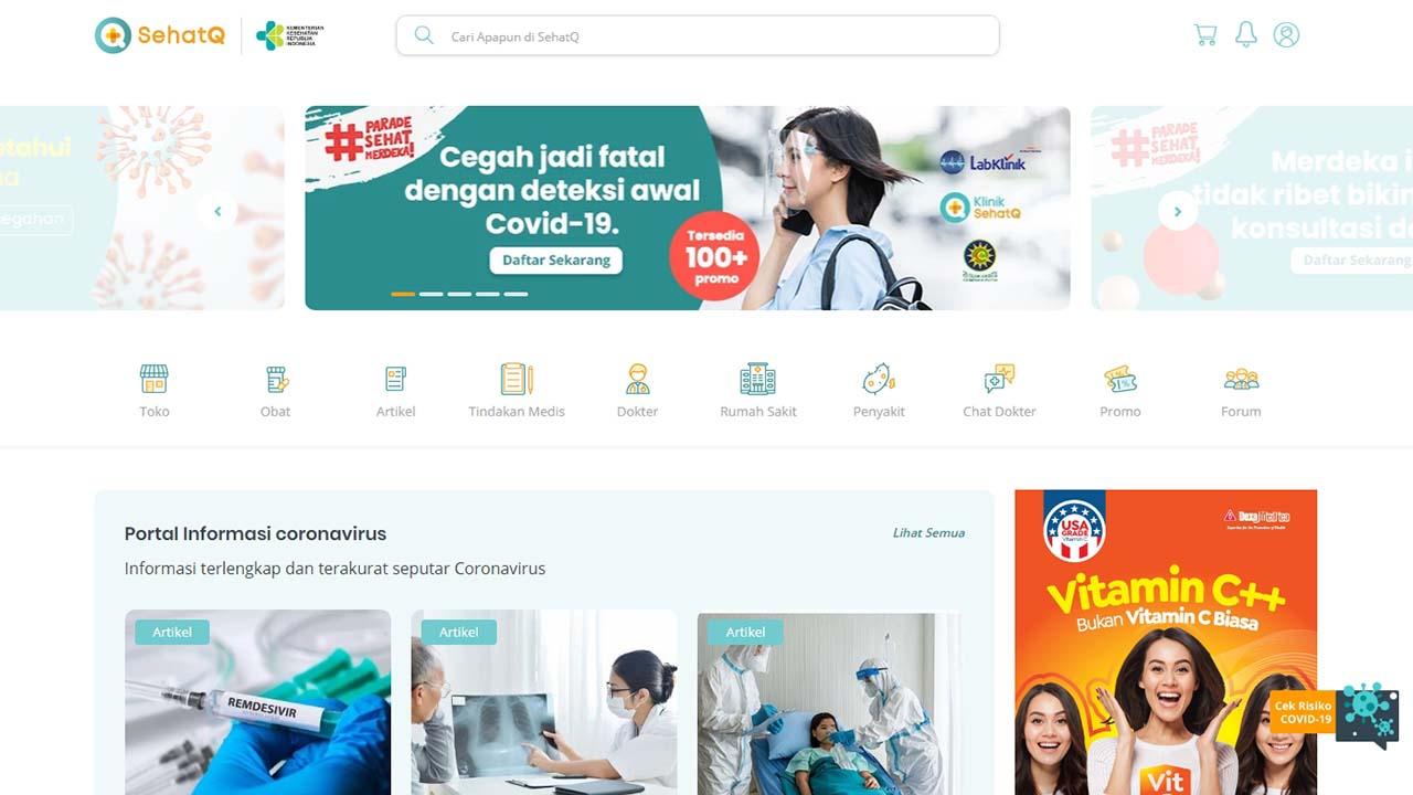 Fitur dan Layanan Kesehatan Terpercaya dari Situs SehatQ.com