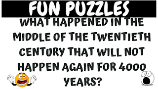 What happened in the middle of the twentieth century that will not happen again for 4000 years?
