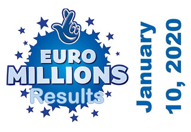EuroMillions Results for Friday, January 10, 2020