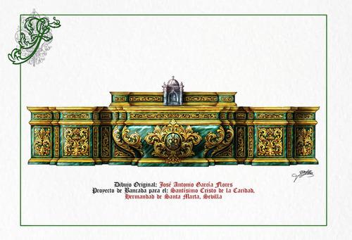Firmado el contrato para la realización de los nuevos altares de la capilla de Santa marta de Sevilla