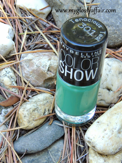 Maybelline Color Show Nail Paint - Tenacious Teal 301 Review and Swatches