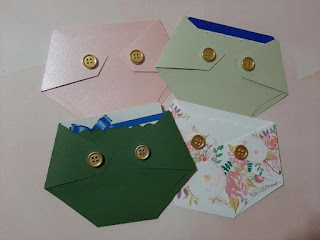 green, prink, floral diaper shaped baby shower gift card holder