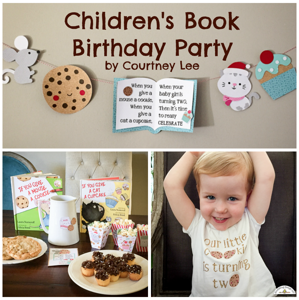 Doodlebug Design Inc Blog: Partying It Up: Children's Book Birthday Party With Courtney