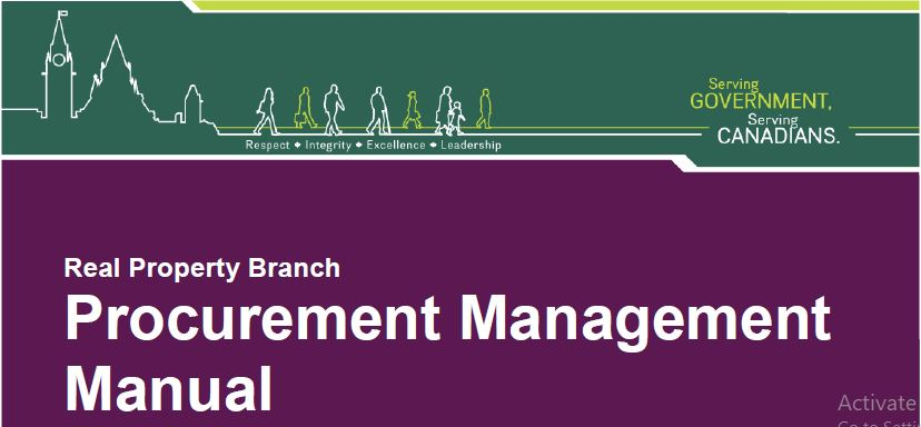 Procurement management manual